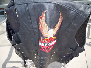 HARLEY DAVIDSON LEATHER VEST SIZE 48