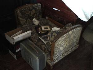 Sofa convertible en lit vers 1920 original France West Island Greater Montréal image 2