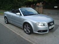 AUDI A4 CABRIOLET 2.0TDI 6 SPEED S LINE STUNNING GREAT VALUE