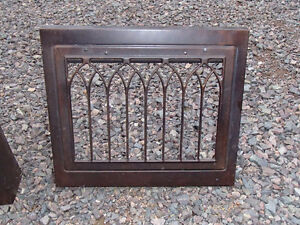 Antique decorative wall heat registers / grates (steel)