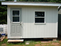 STORAGE BUILDING WRIED 12 X10 WITH 8 FOOT WALS