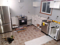 Need my new kitchen cabinets that I installed to be leveled.