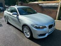 2015 (65) BMW 218D 2.0 SE COUPE DIESEL + 6 SPEED + SILVER + SAT-NAV