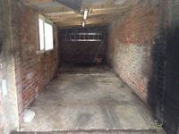 Spacious garage with numerous power points, well lit, running water for rent.