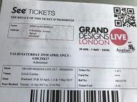 2 Adult Saturday Grand Design Tickets April 29th
