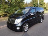 2007 Nissan Elgrand 3500 HIGHWAY STAR BLACK LEATHER EDITION 5dr