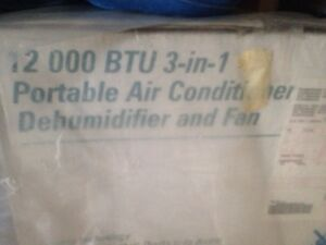 3-in-1 portable air conditioner dehumidifier and fan.