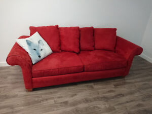Super comfy red couch