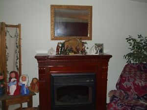 beautiful electric fireplace solid hardwood mantle