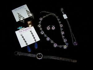 "LOT OF ""8"" PIECES OF LIA SOPHIA JEWELRY PIECES.PLUS 1 WATCH."