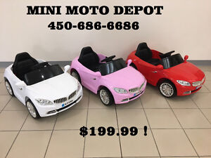 SPECIAL MINI MOTO DEPOT BMW COUPE 12V $199.99!! 514-967-4749