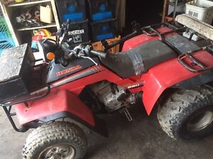 Honda Fourtrax 250 Part out