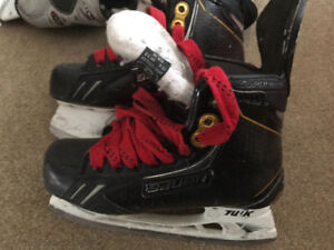 Hockey skates and goalie skates