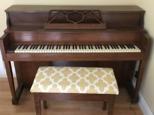 Classic piano with bench