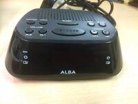 New Alba Clock Radio AM/FM