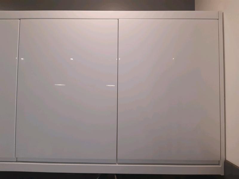 wholesale dealer 8bd3b 3c47e 3× wall white gloss handless kitchen units with doors | in Wimbledon,  London | Gumtree