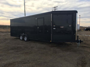 New H&H 8.5x29 sled / car / work combo enclosed trailer