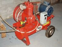 Air Compressor with heavy duty cables