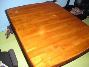 mahogany solid table and chairs