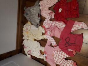 Vêtements bébé filles 3-9 mois