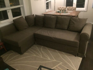 Ikea Sectional Pull-Out Couch with Storage