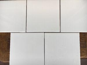 "56 white Ceramic Tiles 6"" x 6"" for sale."