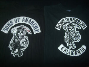 Sons of Anarchy 2  T-shirts, one Extra Large & one Large size