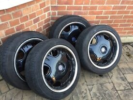 """4x 18"""" alloy wheels 5x120 for BMW 5 3 series VW T5"""