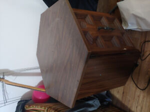 2 free hexagon side tables with large storage
