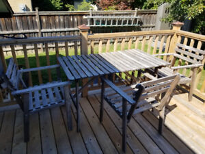 IKEA Patio set with 4 chairs