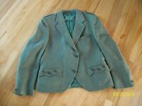 Green Tweed Day Jacket - Size 40