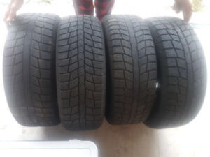 215/55 R 17 winter tires on rims. 5 X 114.3 Like new!!!