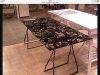 Ikea glass desk and legs