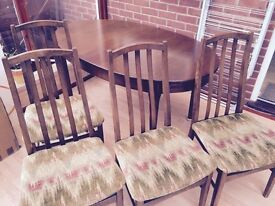 Dining room table & 4 chairs bargain! now £45!