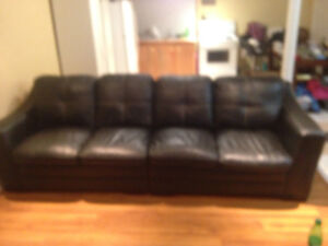 3 piece sectional black leather