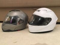 Motorcycle helmet white XL / silver Small