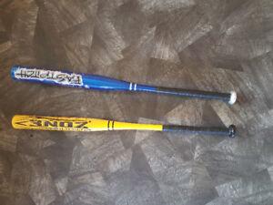 2 softball bats
