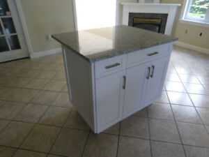 FOR SALE -- NEW CUSTOM-MADE ISLAND CABINET WITH GRANITE TOP