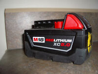 Wanted Milwaukee 5 amp Battery