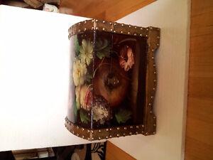 Handpainted wooden nesting box storage chest London Ontario image 1