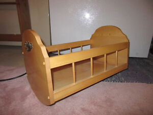 Solid wood cradle - for baby or doll