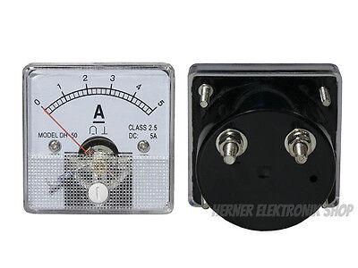 0 - 5 A Dc Einbau Messinstrument Analog Amperemeter Mit Shunt - Class 25