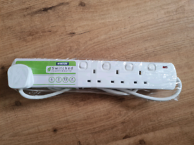 6 Socket Individually Switched Extension Brand New