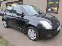 Suzuki Swift 1.3 SZ2, MOT'D, SERVICED, 3 MONTHS WARRANTY & AA (black) 2010