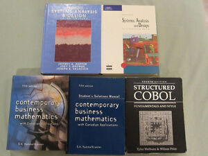 Systems Analysis, COBOL, Business Mathematics $5-$8 each