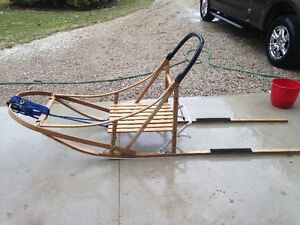 Dog Sled with 5 Harnesess