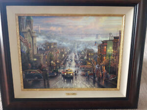 "Thomas Kinkade ""Heart of San Francisco"" Framed Canvas Print"