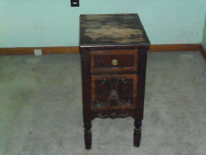small antique night stand
