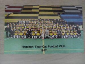 1987-CFL-HAMILTON TIGER-CATS Official Football Team Photo. ddb511c74
