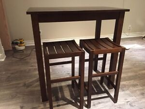 Handsome Bar Tables & Matching Stools